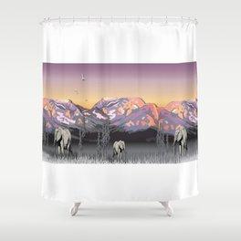 Elephantland Shower Curtain