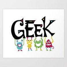 Geek Monsters Art Print