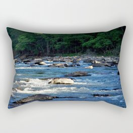 A Creek and Forest in West Virginia  Rectangular Pillow