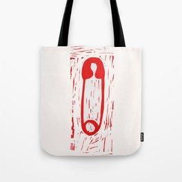 Safety Pin Tote Bag