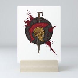 Heroic Spartan Emblem | Warrior Fighter Mini Art Print