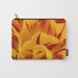 A Chaos of Reds and Yellows: in the Heart of a Triandrus Daffodil Carry-All Pouch