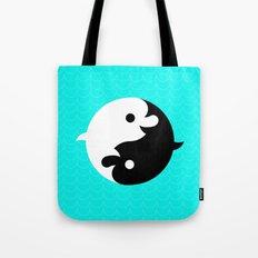 Yin Yang Dolphins Tote Bag
