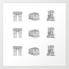 San Francisco Icons Art Print