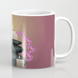 Pebbles with orchid Coffee Mug