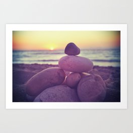 Rockin' the sunset Art Print