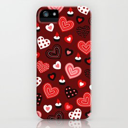 Valentine Hearts and Votive Candles iPhone Case