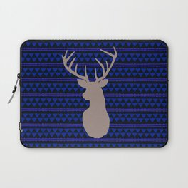 Deer on triangle wallpaper Laptop Sleeve