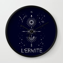 The Hermite or L'Ermite Tarot Wall Clock