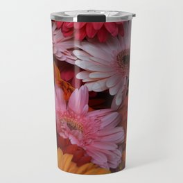 Gerbera Flower Bunch Travel Mug