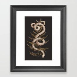 The Snake and Fern Framed Art Print