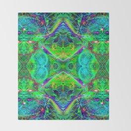 Techno Electric III (Ultraviolet) Throw Blanket