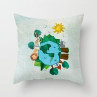 planet Throw Pillows featuring Planet by Design SNS - Sinais Velasco