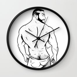 BIG FKR BEAR BACK Wall Clock