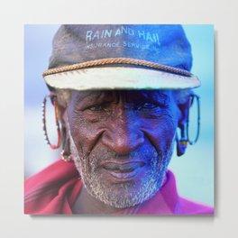 African Chief: Samburu Elder Metal Print