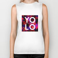 sayings Biker Tanks featuring Dreams of YOLO Vol.2 by HappyMelvin