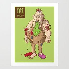Fat Zombie Art Print