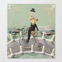 gentleman Canvas Prints featuring Gentleman by Cacho de Colegiales