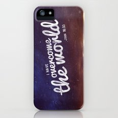 HE has overcome the world Slim Case iPhone (5, 5s)