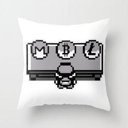 Bitcoin, Litecoin or Monero: choose your initial coin Throw Pillow