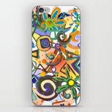 Flower Abstract white iPhone & iPod Skin