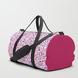 Tangle of Leaves - Blue Red Duffle Bag