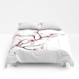 Cherry Blossom branch Comforters