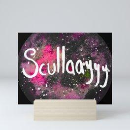 Scullayyy Pink Space Nebula Mini Art Print