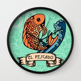 El Pescado Wall Clock