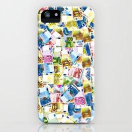 Colorful Euros Pattern - Money - LOA - Abundance - Cash iPhone Case