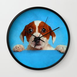 Cute Jack Russell Terrier Puppy Wall Clock