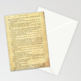 Jane Eyre, Mr. Rochester First Marriage Proposal by Charlotte Bronte Stationery Cards