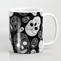 day of the dead Mugs featuring Day of the Dead by Sarah Harris (Lily and Vine Ltd)