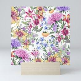 FLORAL WATERCOLOR 10 Mini Art Print