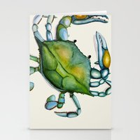 crab Stationery Cards featuring Crab by Dylan Morang