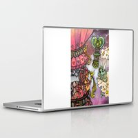 80s Laptop & iPad Skins featuring 80s dreamscape by Charlie L'amour