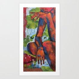 Seated Figure Art Painting Art Print