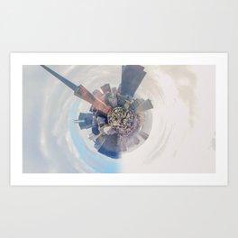 San Francisco city view - tiny planet Art Print