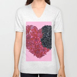Loves Win (heart) Unisex V-Neck