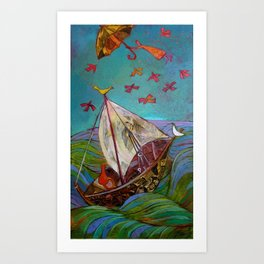 Between Ocean and Sky Art Print