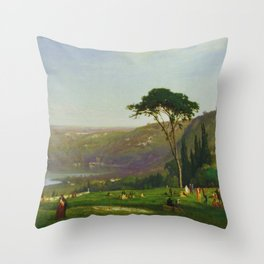 Classical Masterpiece 'Lake Albano, Italy' by George Inness Throw Pillow