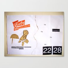 Draw your days : day#1 Creatively Human Talent Canvas Print