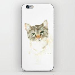 catitude - brown tabby cat iPhone Skin