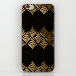 Reims, France: Luxueux Black and Gold Art Deco iPhone Skin
