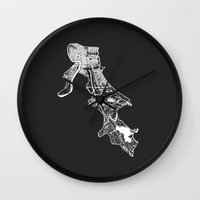 new orleans Wall Clocks featuring NEW ORLEANS  by Nicksman
