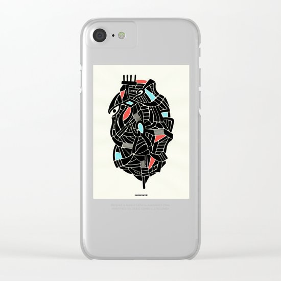 - face for the storm - Clear iPhone Case