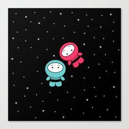 Spaceboy and Spacegirl Canvas Print
