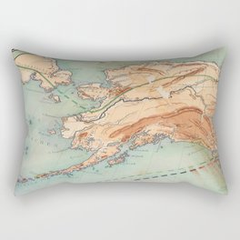 Old Alaskan Map Rectangular Pillow