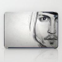 johnny depp iPad Cases featuring Johnny Depp by Miss Midnight