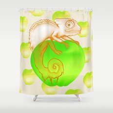 Caramel Chameleon Shower Curtain